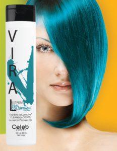Photo of VIRAL Bold Tones Extreme Teal Colorwash Shampoo Bottlesold atStoneham Hair Salon