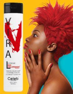 Photo of VIRAL Bold Tones Extreme Red Colorwash Shampoo Bottlesold atStoneham Hair Salon